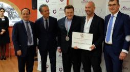 Teo Costa premiato al Vinitaly