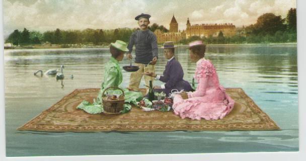 Le dejeuner sur l'eau, il lago si tinge di solidarietà