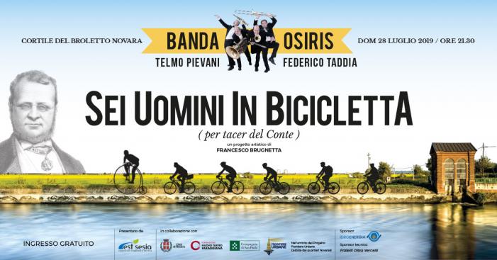 Il maltempo blocca la Banda Osiris in bici lungo il canale Cavour