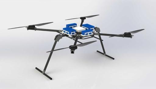 Il drone scacciazanzare che sorvola le risaie