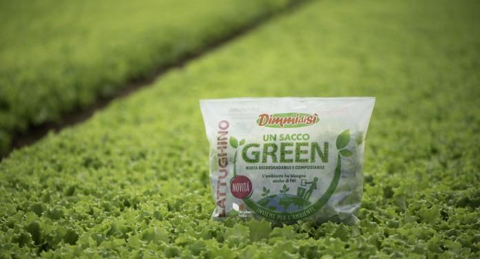 Un sacco green con la bioplastica Novamont