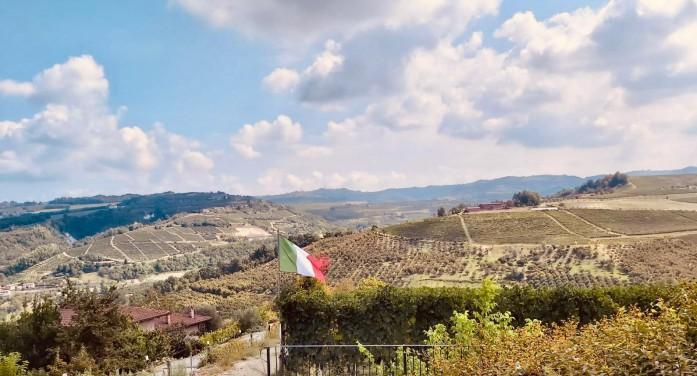 Sulle colline sventola la bandiera per la vendemmia tricolore (photogallery)