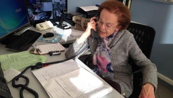 Un angelo chiamato Alma, centralinista della Cri a 92 anni